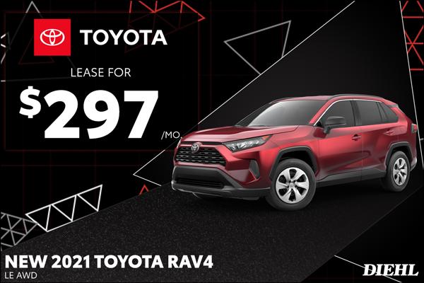 Special offer on 2021 Toyota RAV4 2021 RAV4
