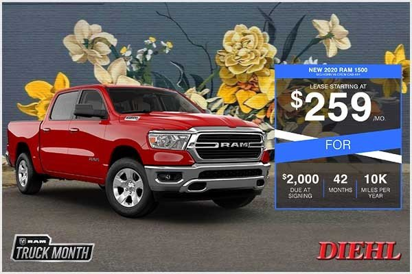 Special offer on 2020 Ram 1500 NEW 2020 RAM 1500 BIG HORN V6 CREW CAB 4X4