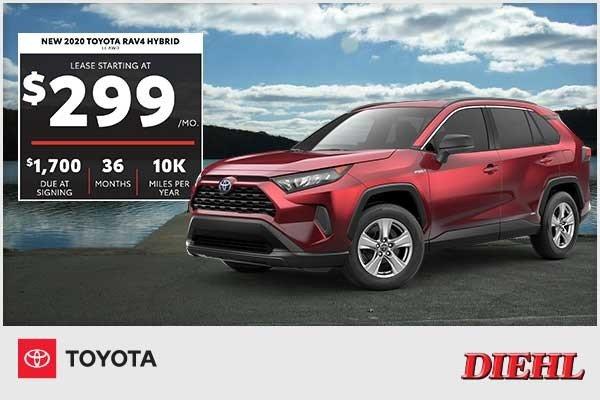 Special offer on 2020 Toyota RAV4 NEW 2020 TOYOTA RAV4 HYBRID LE AWD