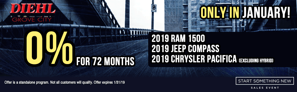 STANDALONE-PROGRAM-0-PERCENT-JANUARY new vehicle specials Start Something New Sales Event Chrysler Specials Dodge Specials Jeep Specials RAM Specials grove city specials Diehl specials Diehl Automotive grove city lease specials