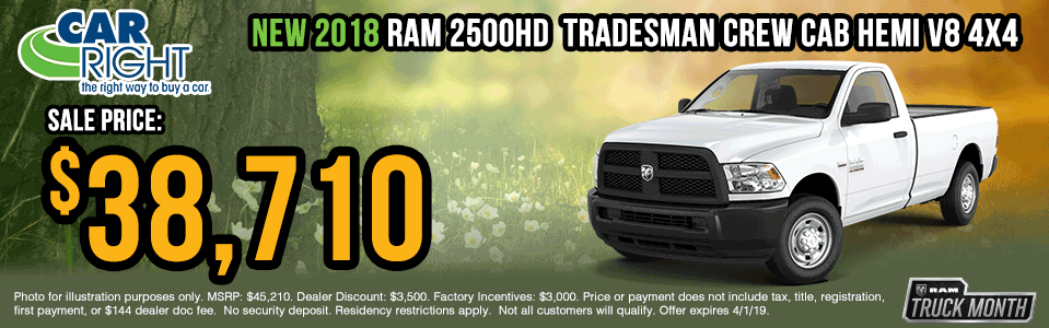 B2657-2018-ram-2500-tradesman-crew-cab Spring sales event ram truck month jeep specials Chrysler specials ram specials dodge specials mopar specials new vehicle specials carright specials moon twp