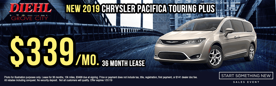 C271---2019-CHRYSLER-PACIFICA-TOURING-PLUS Start Something New Sales Event Chrysler Specials Dodge Specials Jeep Specials RAM Specials new vehicle specials grove city specials Diehl specials Diehl Automotive grove city lease specials