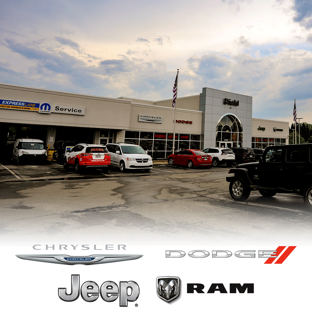 Diehl Chrysler Dodge Jeep RAM of Robinson chevrolet buick cadillac toyota volkswagen buy lease trade