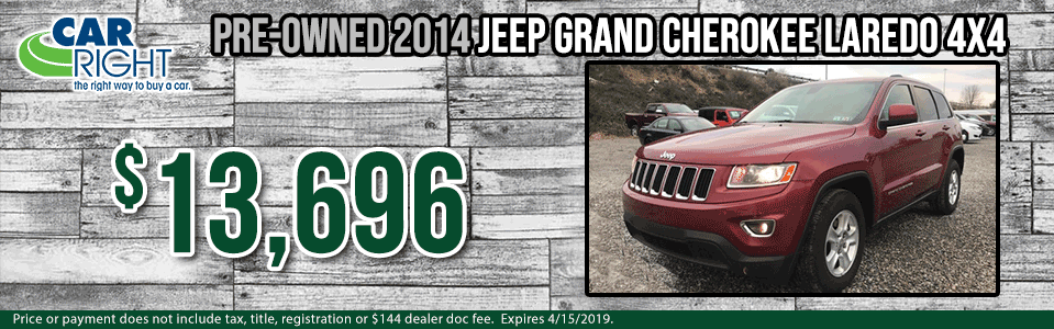 Spring sales event carright Chrysler dodge jeep ram Diehl auto moon township Pittsburgh pre-owned vehicle special used special certified pre-owned cpo jeep specials g0037a-2014-jeep-grand-cherokee