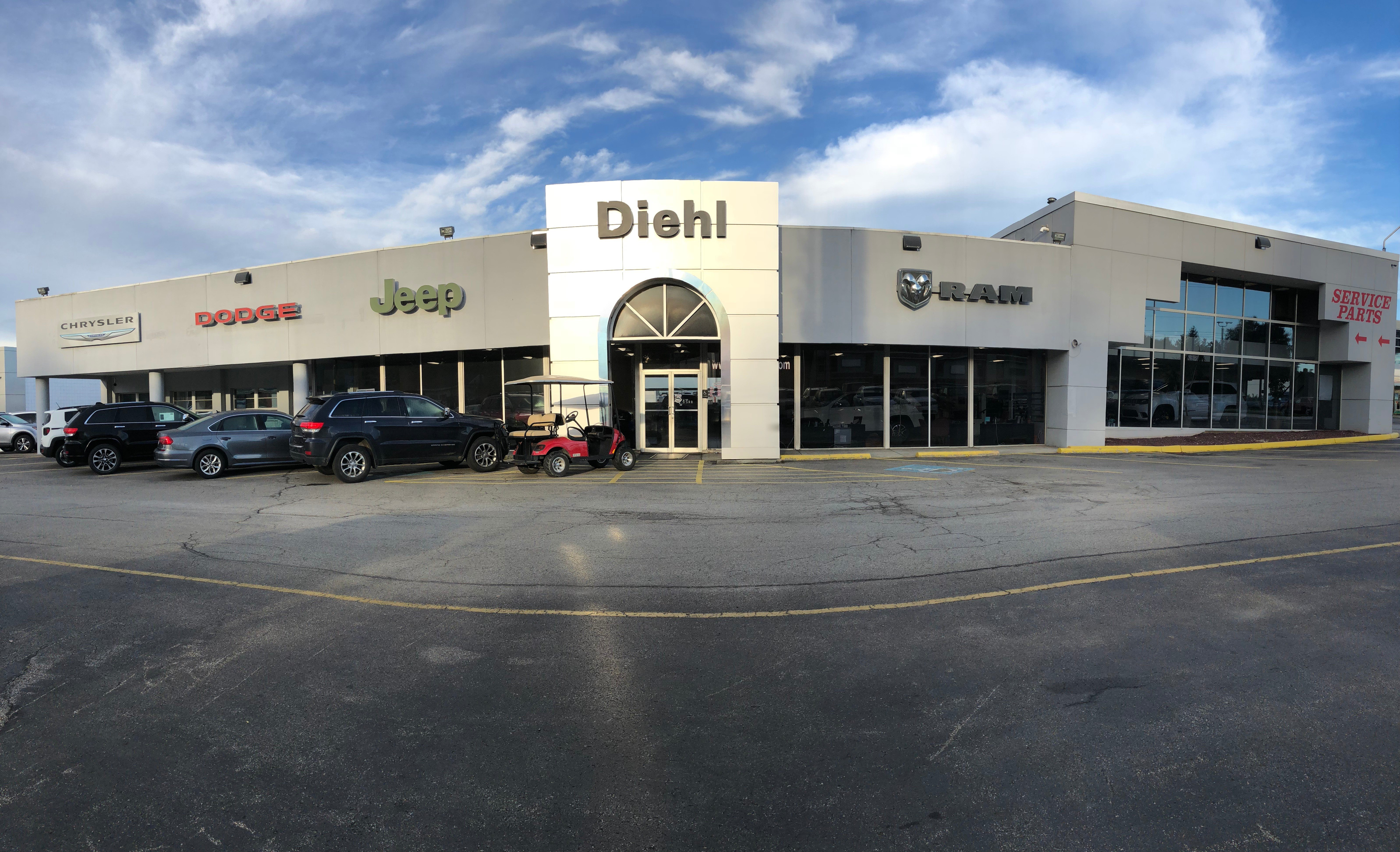 Diehl Chrysler Dodge Jeep RAM of Butler storefront.
