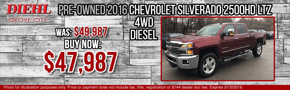 Diehl of Grove City Chevrolet Buick Cadillac Chrysler Jeep Dodge Ram. Service, parts, accessories, new and used sales, body shop.