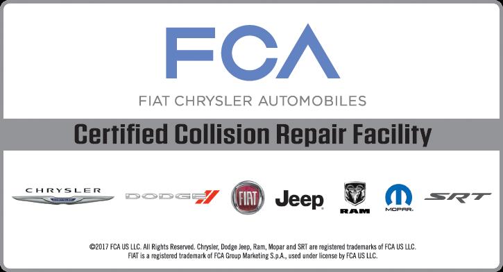 Diehl Automotive Collision Center FCA Fiat Chrysler Automotive Chrysler Dodge Jeep RAM certified technicians body shop