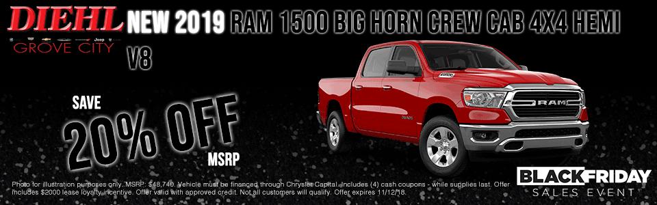 2019 Ram 1500 Big Horn Cab