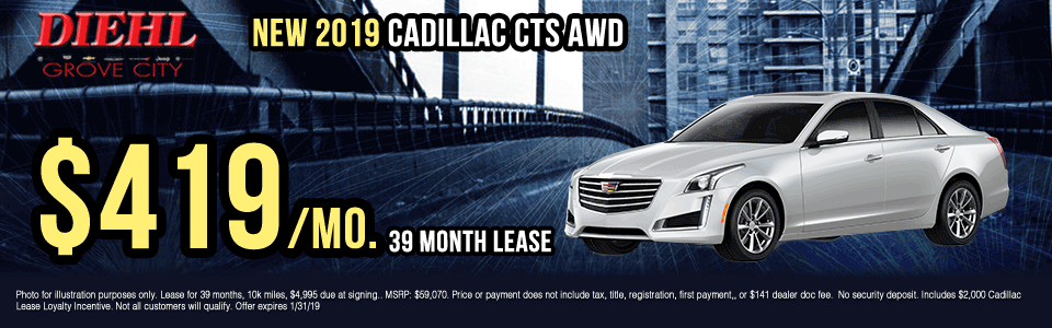 X045-2019-cadillac-cts-awd Diehl of grove city new vehicle specials Chevrolet specials buick specials Cadillac specials new specials gm specials diehl automotive lease specials lease incentives