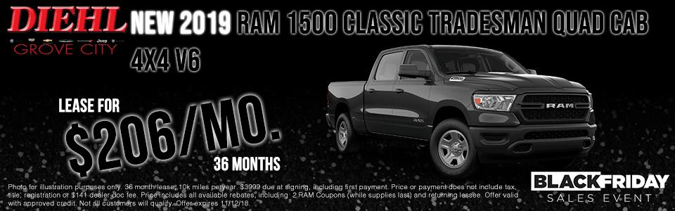 NEW 2019 RAM TRADESMAN QUAD CAB 4x4 V6
