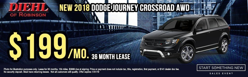 Diehl of Robinson Chrysler Jeep Dodge Ram Robinson Township PA New used parts accessories service NEW 2018 DODGE JOURNEY CROSSROAD AWD