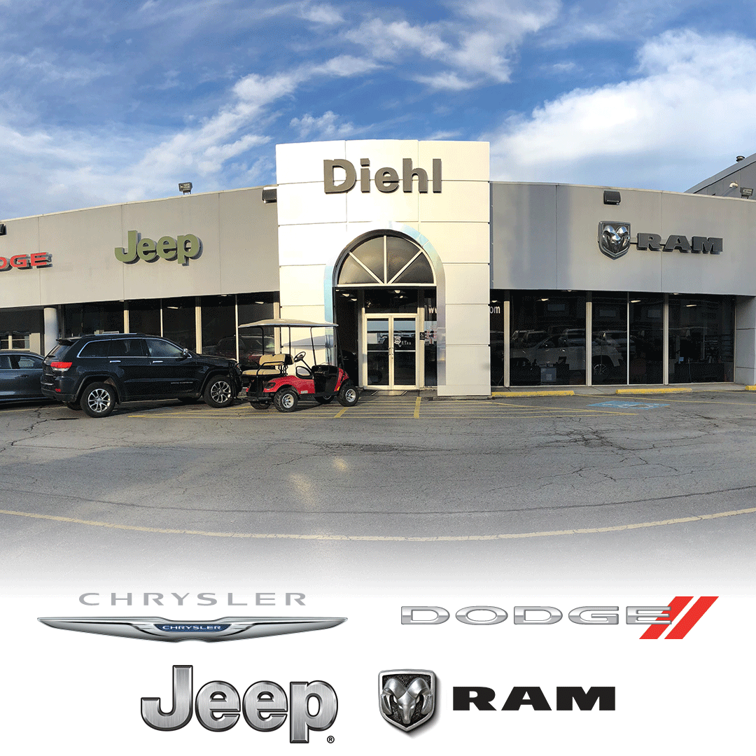 Diehl Chrysler Dodge Jeep RAM of Butler storefront Diehl Automotive Group mitsubishi Volkswagen Toyota Chevrolet Buick Cadillac map directions