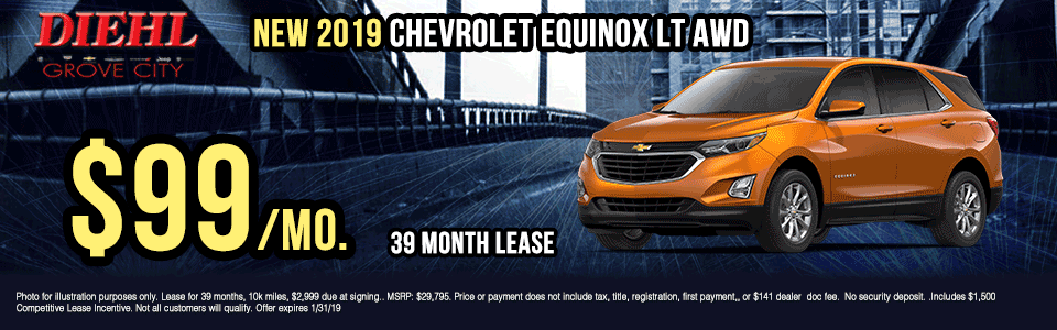 G247-2019-CHEVROLET-EQUINOX-LT-AWD Diehl of grove city new vehicle specials Chevrolet specials buick specials Cadillac specials new specials gm specials diehl automotive lease special lease incentive