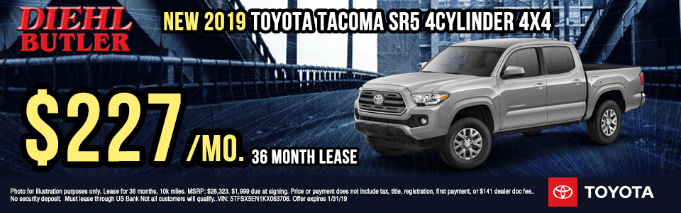 T191024-2019-toyota-tacoma-4clinder diehl toyota specials new vehicle specials lease specials toyota specials lets go places