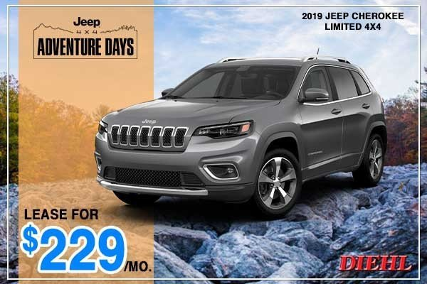 Special offer on 2019 Jeep Cherokee NEW 2019 JEEP CHEROKEE LIMITED 4X4