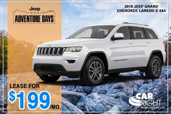 Special offer on 2019 Jeep Grand Cherokee NEW 2019 JEEP GRAND CHEROKEE LAREDO E 4X4