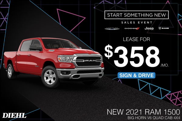 Special offer on 2021 Ram 1500 2021 RAM 1500
