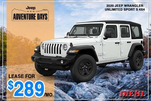 Special offer on 2020 Jeep Wrangler NEW 2020 JEEP WRANGLER UNLIMITED SPORT S 4X4