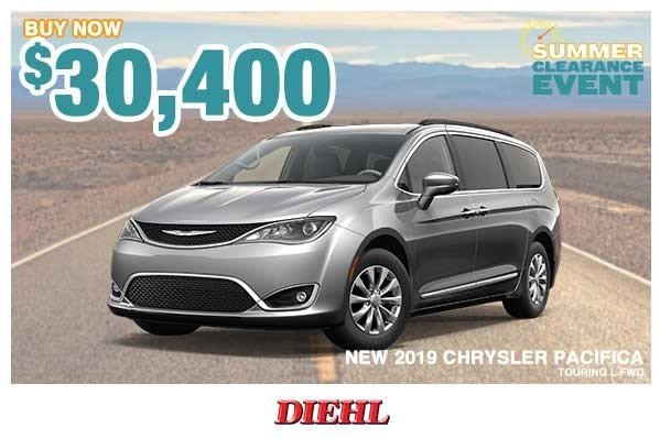 Special offer on 0   NEW 2019 CHRYSLER PACIFICA TOURING L