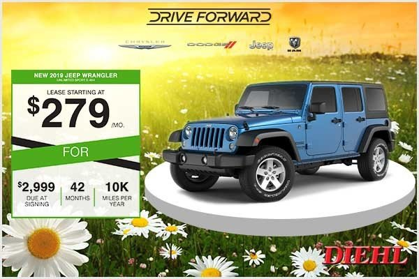 Special offer on 2019 Jeep Wrangler Unlimited New 2019 Jeep Wrangler Unlimited Sport S 4x4