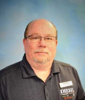 Parts Manager Rick Schantz in Parts at Diehl Automotive