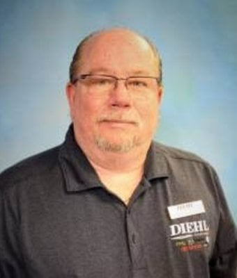 Parts Manager Rick Schantz at Diehl Automotive