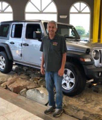 Parts Driver Chuck Shasteen in Diehl CDJR of Salem at Diehl Automotive