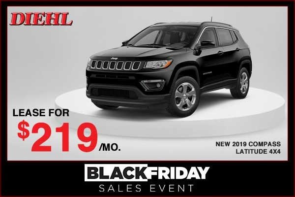 Special offer on 2019 Jeep Compass NEW 2019 JEEP COMPASS LATITUDE 4X4