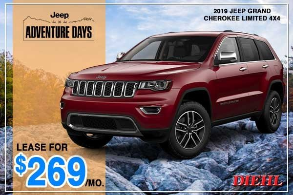 Special offer on 2019 Jeep Grand Cherokee NEW 2019 JEEP GRAND CHEROKEE LIMITED 4X4