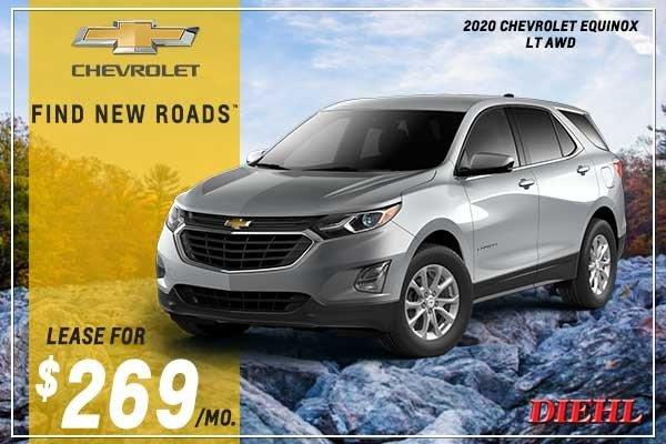 Special offer on 2020 Chevrolet Equinox NEW 2020 CHEVROLET EQUINOX LT AWD