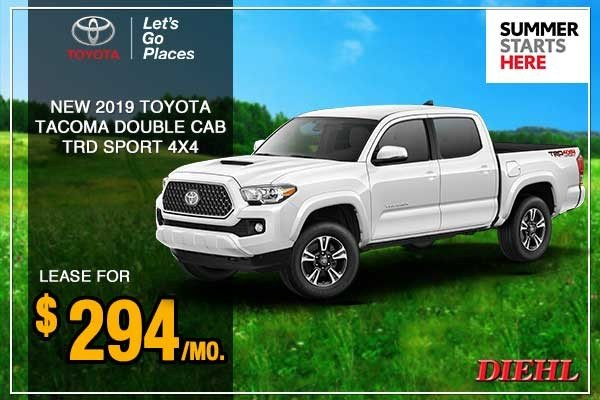 Special offer on 0   New 2019 Toyota Tacoma 4WD 4D Double Cab