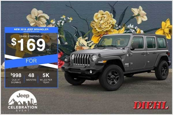 Special offer on 2019 Jeep Wrangler NEW 2019 JEEP WRANGLER UNLIMITED SPORT S 4D 4X4