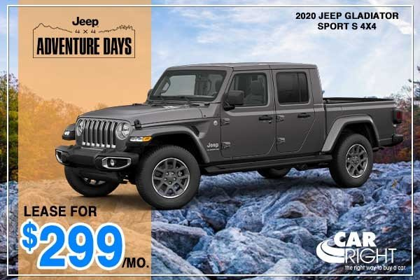 Special offer on 2020 Jeep Gladiator NEW 2020 JEEP GLADIATOR SPORT S 4X4