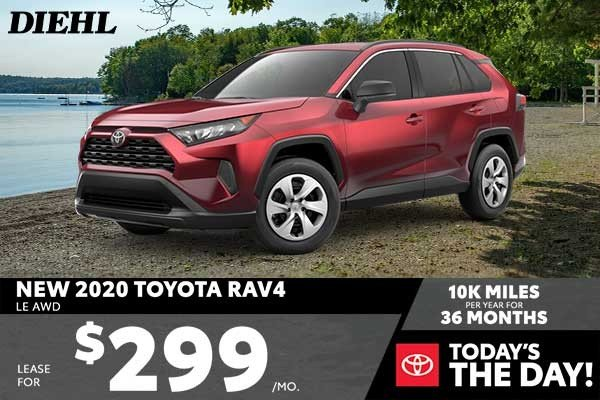 Special offer on 2020 Toyota RAV4 NEW 2020 TOYOTA RAV4 LE AWD