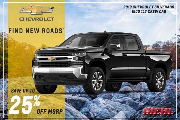 Special offer on 2019 Chevrolet Silverado 1500 NEW 2019 CHEVROLET SILVERADO 1500 1LT CREW CAB