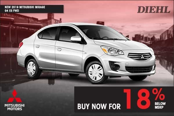 Special offer on 0   NEW 2019 MITSUBISHI MIRAGE G4 ES FWD