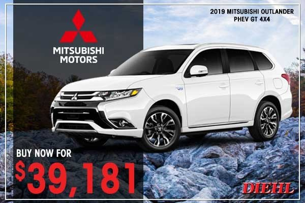 Special offer on 2019 Mitsubishi Outlander PHEV NEW 2019 MITSUBISHI OUTLANDER PHEV GT 4X4