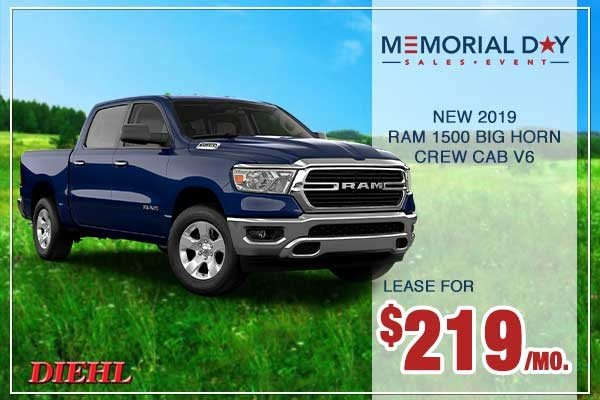 Special offer on 0   New 2019 RAM 1500 Big Horn Crew Cab