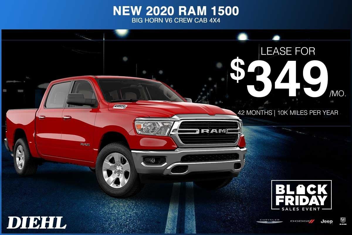 Special offer on 2020 Ram 1500 NEW 2020 RAM 1500 BIG HORN V6 CREW CAB 4X4