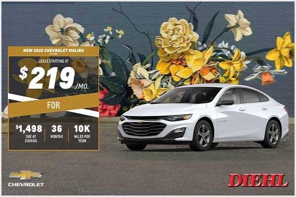 Special offer on 2020 Chevrolet Malibu NEW 2020 CHEVROLET MALIBU LS FWD