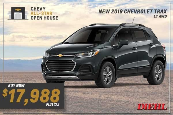 Special offer on 0   NEW 2019 CHEVY TRAX LT AWD