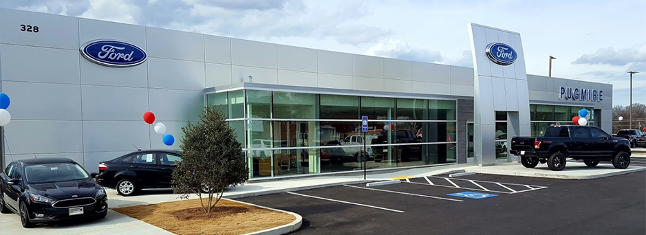 Picture of the front of Pugmire Ford located in Cartersville GA