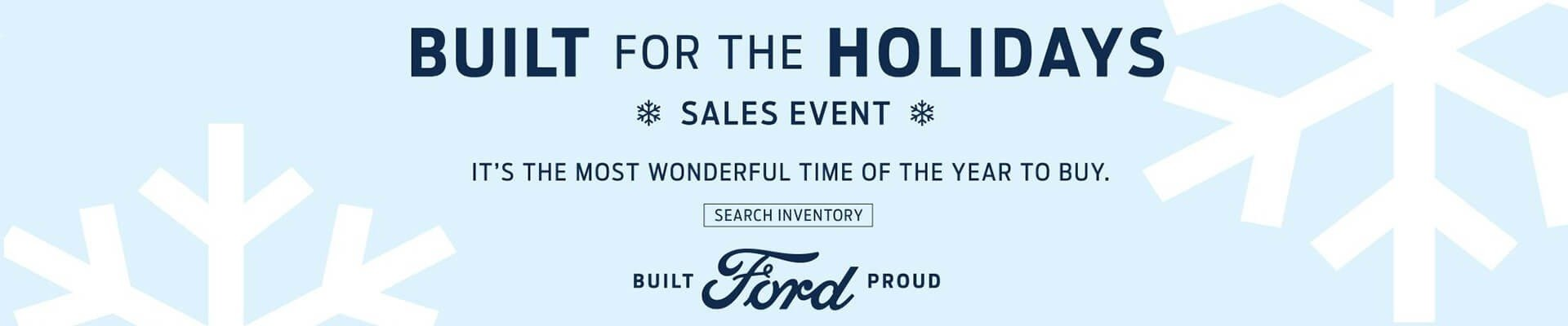 Ford Built for the Holidays Sales Event