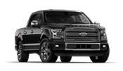 black ford f150 platinum outside of our Carrollton dealership