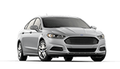 brand new silver 4 door ford fusion sedan