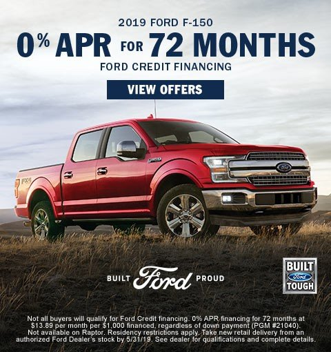 Special offer on 2019 Ford F-150 0% for 72 Months | 2019 Ford F150s