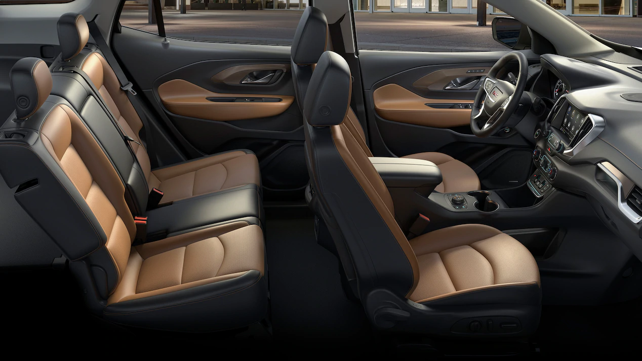 interior view of the all new gmc terrain