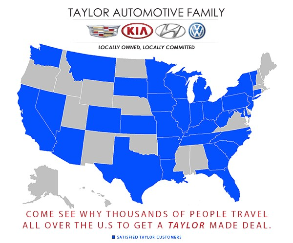 taylor auto family us map