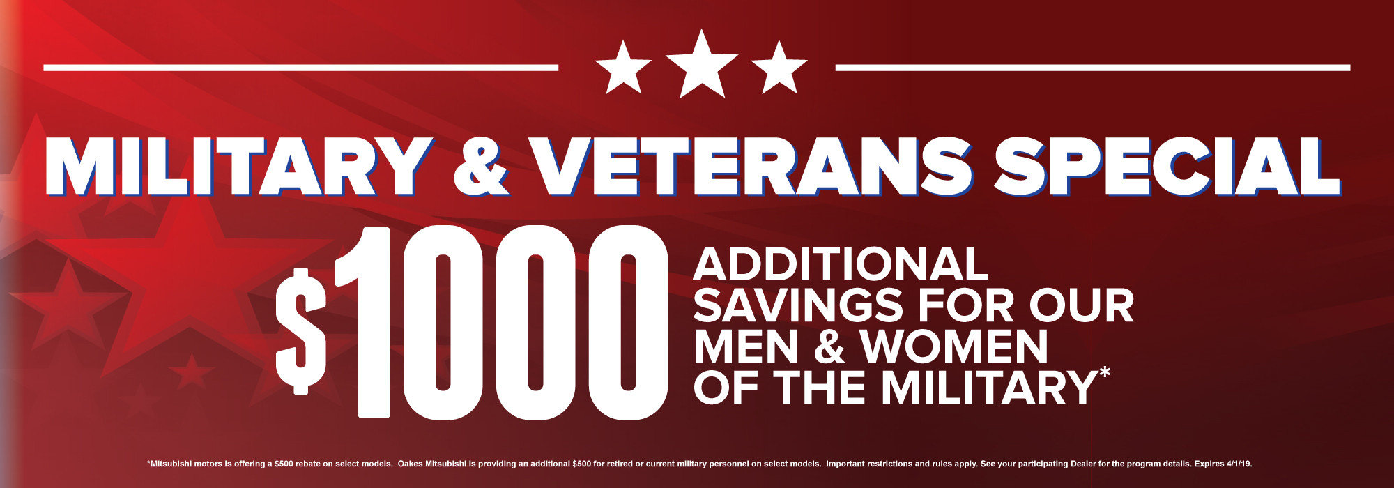Military & Veterans Special