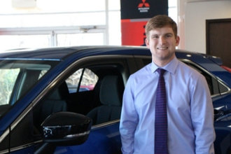 Finance Manager Hayden Walker in Oakes Mitsubishi Team at Oakes Auto